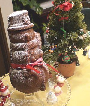 雪だるまケーキ2